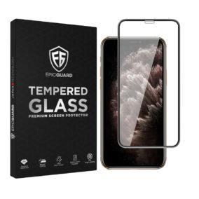Folie Sticla EpicGuard Apple iPhone 11 Pro Protectie Premium 3D FULL NEGRU